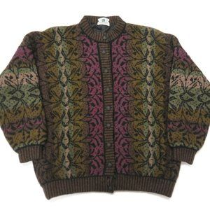 Kolor Knits Ireland Wool Cardigan Sweater Vintage